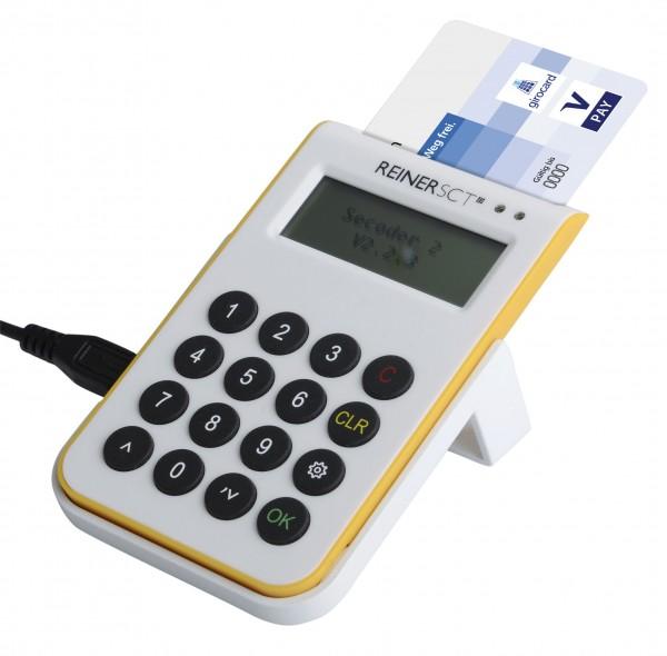 Chipkartenleser cyberJack one (weiß/gelb)