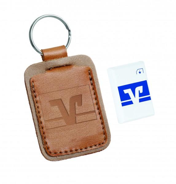 Schlüsselanhänger Leder mit Bezahlfunktion