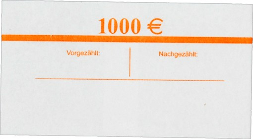 Geldscheinbanderole 20 x 50 EUR