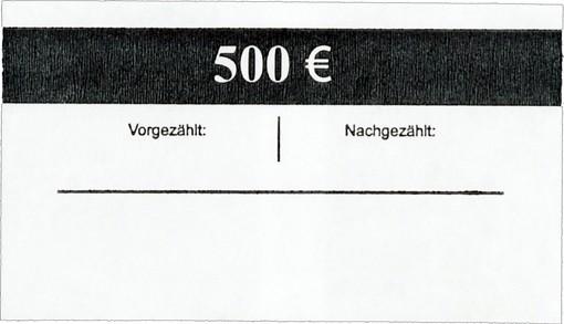 Geldscheinbanderole 100 x 5 EUR
