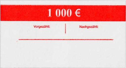 Geldscheinbanderole 100 x 10 EUR