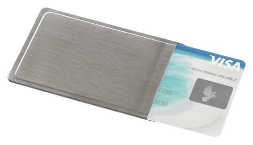 Kartenhülle aus Edelstahl, NFC Schutz